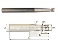 YG1 USA EDP # ZRT1202 I-XMILL LONG TAPER NECK CORNER RADIUS HOLDER 12 x 16 x 10.2 x 15 x 60 x 160