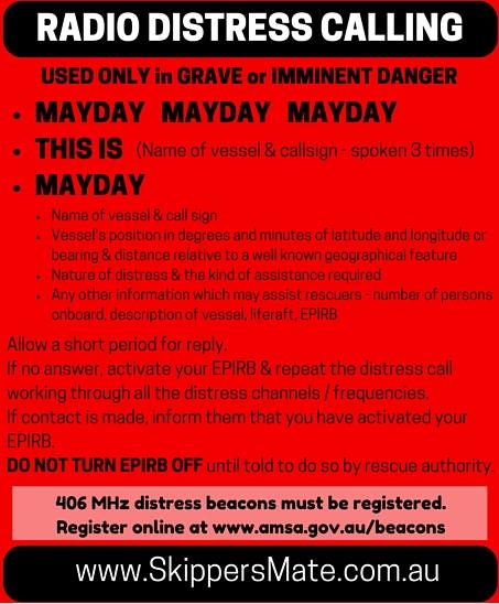 MAYDAY MAYDAY MAYDAY - IMMINENT DANGER - SkippersMate