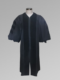 Dr. of Divinity Clergy Pulpit Robe - Black w/ Doctor Bars