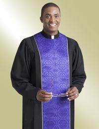 Murphy Men's Robe Vicar H-206 - Black/Purple