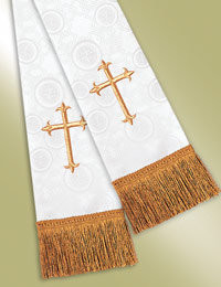 Millenova Pulpit / Clergy Stole 13523 - White