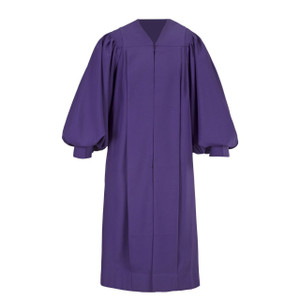 Purple Men's & Women's Clergy Pulpit Robe