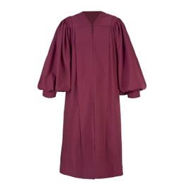 Burgundy Men's & Women's Clergy Pulpit Robe