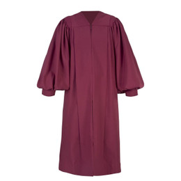 Burgundy Men's & Women's Clergy Pulpit Robe