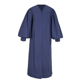 Navy Blue Men's & Women's Clergy Pulpit Robe