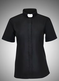 Women's Short-Sleeve Tab-Collar Clergy Shirts - 4 COLORS