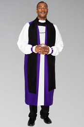 Bishop Chimere in Purple with Back Fluting to be work with Bishop Rochet