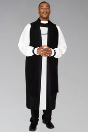Elders and Pastors Chimere in Black with Back Fluting to be work with Elders and Pastors Rochet