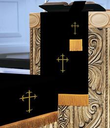 3 Pc. Church Parament Set - Reversible Black/White Crosses