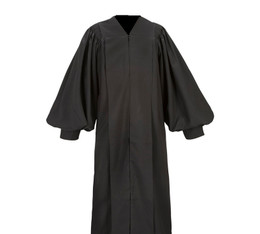 Male Pulpit Robe - Solid Black