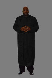 Clergy Cassock in Black and Black Border Stole