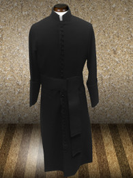 Roman Clergy Cassock in Solid Black