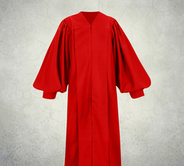 Male Pulpit Robe - Solid Red