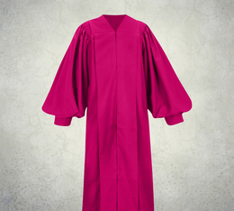 Male Pulpit Robe - Solid Fuchsia