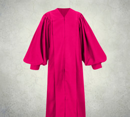 Female Pulpit Robe - Solid Fuchsia