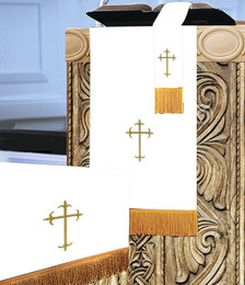 3 Pc. Church Parament Set - Reversible Purple/White Crosses
