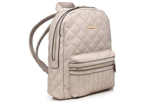 Bessie London Quilted Backpack (BL2864) in Grey