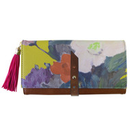 1916 Floral Purse Wallet in Mustard