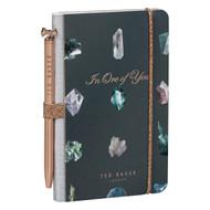 Ted Baker Linear Gem Mini Notebook & Pen (TED944)