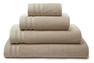 Luxor Zero Twist Pure Cotton Towel in Natural