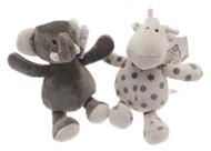 Grey Elli & Raff Super Soft Beanie Plush Toy