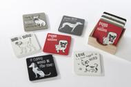 Set of 6 Dog Coasters (8pd111)