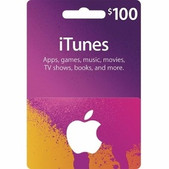 iTunes Gift Cards $100 SKU iTunes100