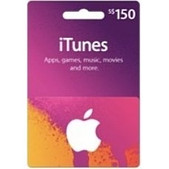 iTunes Gift Cards $150 SKU iTunes150