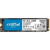 Micron-Crucial P2 500gb, M.2 Internal Nvme Pcie Ssd, 2300r/940w Mb/s, 5yr Wty SKU CT500P2SSD8