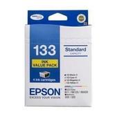 Epson-133 Standard Capacity Value Pack 4 Inks Stylus N11 Nx125 Nx420 Workforce 320 325 SKU C13T133692