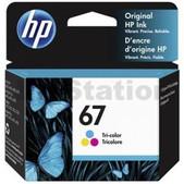 Hewlett Packard-Hp 67 Tri-color Original Ink Cartridge 100 Page Yield SKU 3YM55AA