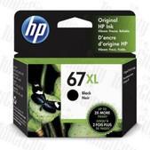 Hewlett Packard-Hp 67xl Black Original Ink Cartridge 240 Page Yield SKU 3YM57AA