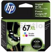 Hewlett Packard-Hp 67xl Tri-color Original Ink Cartridge 200 Page Yield SKU 3YM58AA