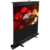 Elite Screens-80 Portable 1610 Pull-up Projector Screen Floor Pull Up Swivel Legs Ezcinema SKU F80NWX