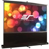 Elite Screens-84 Portable 43 Pull-up Projector Screen Floor Pull Up Swivel Legs Ezcinema SKU F84NWV