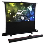 Elite Screens-90 Portable 43 Pull-up Projector Screen Tab Tension Compatibile With Ust SKU FT90XWV