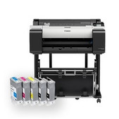 Canon-Canon Ipftx-2100 24in 5 Colour Technical Large Format Printer With Stand Aio Pc And Scanner SKU BDL_TX21MF_IND