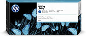 Hp-Hp 747 300-ml Chromatic Blue Designjet Ink Cartridge - Z9+ Series SKU P2V85A