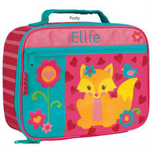 Monogrammed Kids Lunch Box in Fox Girl