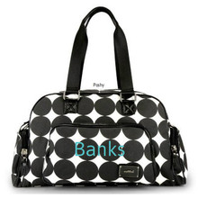 Black White Polka Dot OOYOO Custom Baby Diaper bags
