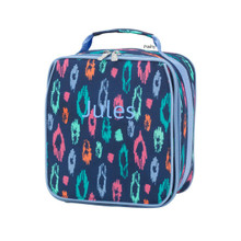 Monogrammed Kid Lunch Boxes Laney Leopard