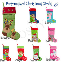 Monogrammed Kids Stockings, Personalized Kids Stockings, Christmas Stockings, Stephen Joseph