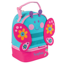 Monogrammed Kids Lunch Box in Butterfly Pals