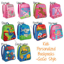 Kids Backpack- Kids Personalized Stephen Joseph GOGO Style