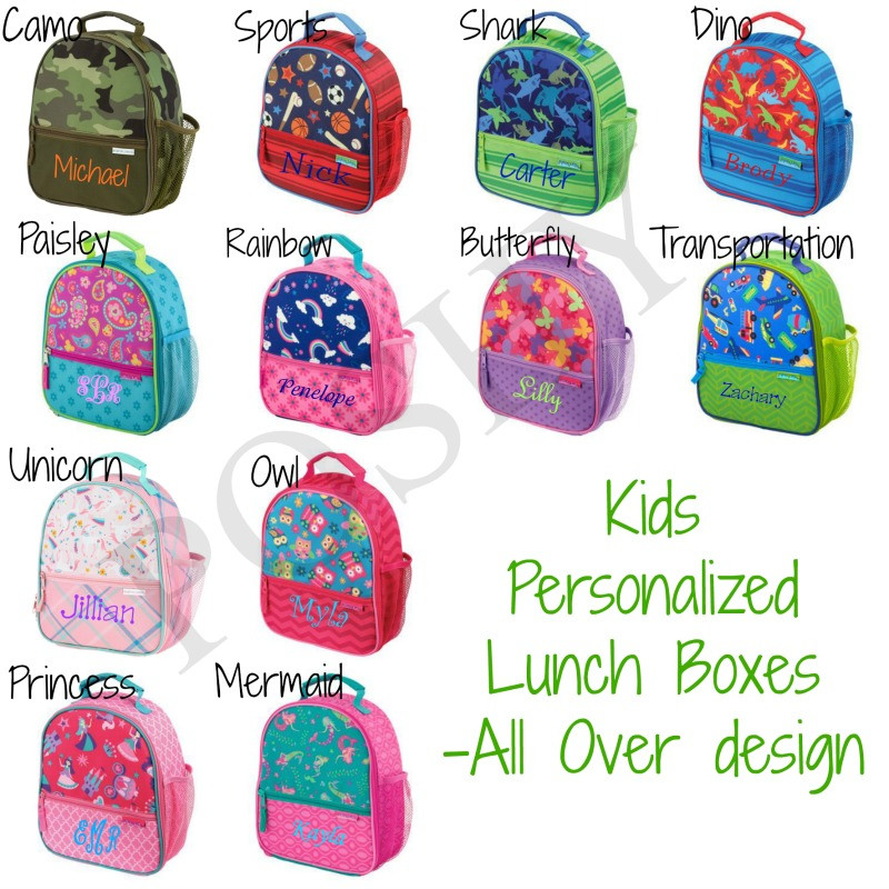 Kids Lunch Box Kids Personalized Lunch Box Stephen Joseph All Over Style