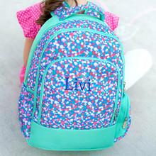 Kids Backpack- Kids Personalized -Monogrammed Kids Backpack -Confetti pop Print