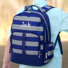 Kids Backpack- Kids Personalized -Monogrammed Boys Backpack -Greyson Print