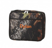 Kids Lunch Box- Kids Personalized Lunch Box -Monogrammed  Boys Lunch Box- Wood Camo Print