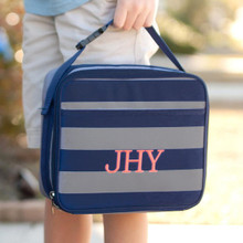 Kids Lunch Box- Kids Personalized Lunch Box -Monogrammed  Boys Lunch Box- Greyson Print