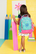Kids Backpack- Kids Personalized -Monogrammed Kids Backpack -Lottie Print